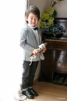 七五三お衣装セットs5-9『スーツ モノトーン』