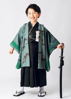 5-40 葵紋と龍 グリーン