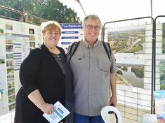 Di Harris et Bob Naylor, représentants du canal Kennet et Avon (UK) avaient fait spécialement le déplacement.