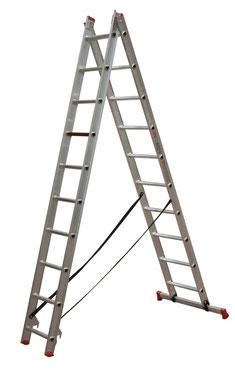 Escaleras profesionales tienda online escaleras de aluminio - Escalera dos tramos ...
