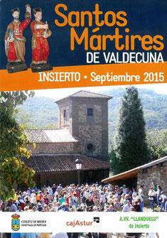 Santos Mártires de Valdecuna, en Mieres 2015 Programa y cartel