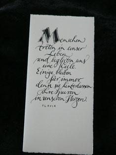 Handschrift zum Zeichen der Verbundenheit