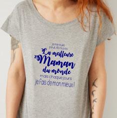 t shirt phrase maman