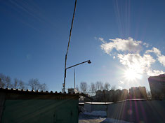 Солнце в границах кадра, 12 мм, f/16