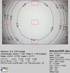 Виньетирование 55 мм f/4.5