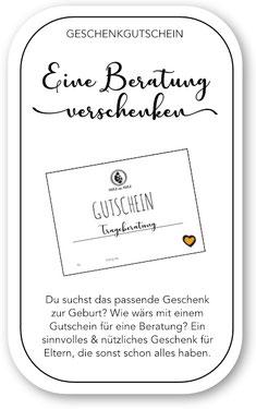 Beratung Gutschein Geschenk im Babyladen Winterthur