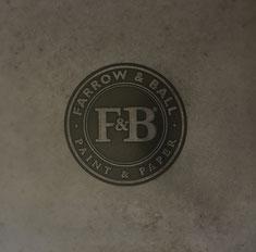 werftbeton Schriftenbeton Firmenschild aus Beton Farrow