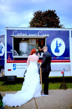 Crepe and Cake at a French themed wedding mn Minnesota