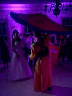 Auftritt bei einer Hochzeit