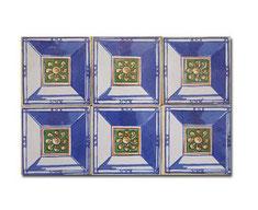 Muestra de 6 azulejos de 15 x 15 cm.