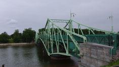 Karosta, Drehbrücke geschlossen