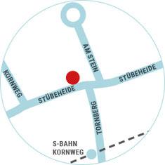 Lageplan der Bäckerei Vollstädt in Klein Borstel