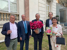 de gauche à droite : YvesRouart, Pierre Bédouelle, Arnaud Delbard, Luc Wattelle, Catherine Burger