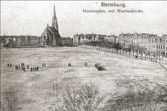 Weiter Blick: Noch vor hundert Jahren war das Areal unterhalb der Martinskirche unbebaut und wurde für Exerzierübungen