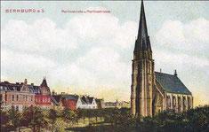 Schon damals ein Blickfang, aber mit mehr Grünfläche drumherum: die majestätische Martinskirche