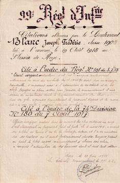 Doc 1 : copie certifiée conforme des deux citations reçues .(Coll.priv. 001)