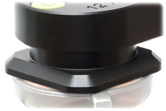 pocketPANO Nodalpunktadapter mit Arca-Swiss kompatiblem Klemmprofil und 1/4-Zoll Anschlussgewinde