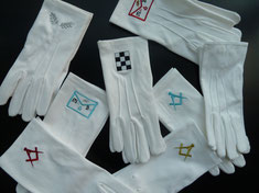 gants maçonniques