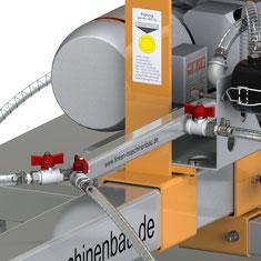 Ausstattung am Finken Vakuum Hebegerät: Kugelventile zum einzelnen Zu- und Abschalten von Saugnäpfen
