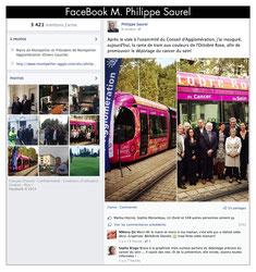 Sur Facebook de Philippe SAUREL - maire de Montpellier