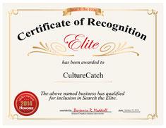 Certificate of regognition, CultureCatch