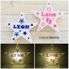 LED-Nachtlicht Stern, Nachtlicht Kinder, Nachtlicht Baby, LED-Stern mit Name, Nachtlicht Baby, Nachtlicht Name, LED-Stern personalisiert