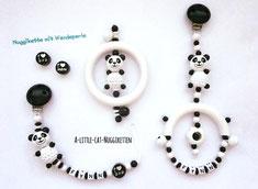 """Set """"Pandas schwarz-weiss"""""""