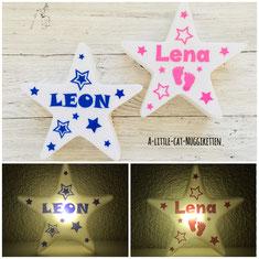 LED-Stern mit Name, Nachtlicht Baby, Nachtlicht Name, LED-Stern personalisiert