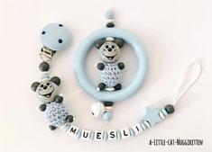 """Geschenkset """"Maus blau"""""""
