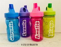 Trinkflasche mit Name, Nalgene Trinkflasche Name, Trinkflasche Baby Name, Geschenk Geburt, Geschenk Taufe, Geschenk Baby