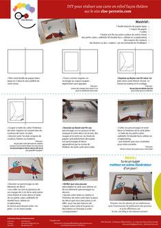 DIY Papercraft d'une carte en relief façon théâtre réalisé par l'illustratrice Cloé Perrotin