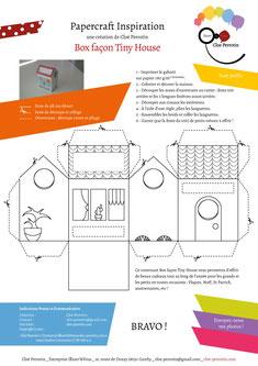 DIY Papercraft d'une box façon Tiny house réalisée par l'illustratrice Cloé Perrotin