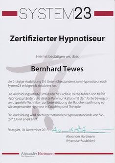 System23 Zertifikat