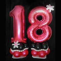 Luftballon Ballon Dekoration Geschenk Geldgeschenk Zahlen Party Hingucker Eyecatcher excluxive besondere