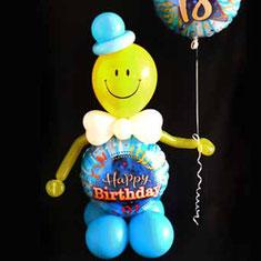 Luftballon Ballon Dekoration Geschenk Zahlen Party Hingucker Eyecatcher excluxive besondere witzig bunt