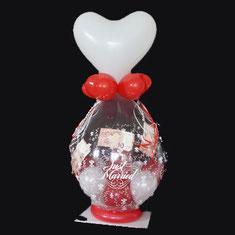 Luftballon Ballon Geschenk Geldgeschenk Dekoration Liebe Geldballon Just Married