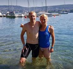 Jens und Clara Gosebrink (Jens hat eine Triathlon-Trainerlizenz)