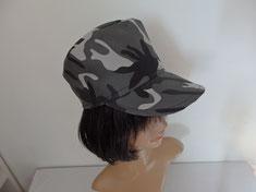 casquette droite tissu camouflage