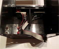 assembled joystick unit with soldered ribbon cable