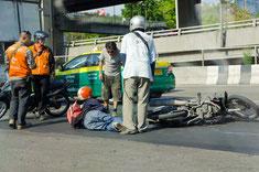 Unfall mit dem Motorrad