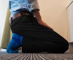 靴が合わなくて腰椎椎間板ヘルニアになった奈良県葛城市の先生