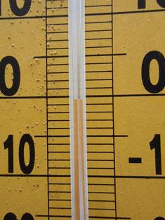 大日岳付近の気温。-0.5℃