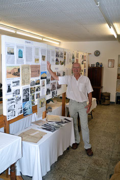Bild: Seeligstad Heimatverein Ausstellung Häuserchronik  Hans-Peter Bruneker