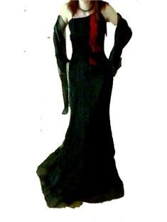 langes Abendkleid schwarz