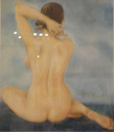 裸婦 パステル10号
