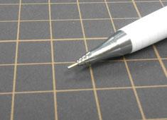 オレンズ謎のペン先。アシストするパイプ