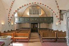 Empore mit Eule-Orgel