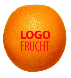 Logo Orange, Orangen bedrucken, Bedruckte Orangen, Logo Obst