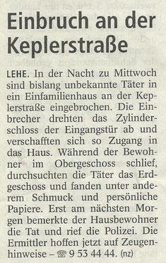 Quelle: Nordsee Zeitung, 28.2.2013