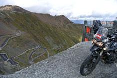 Blick vom Tibet oberhalb des Stilfser